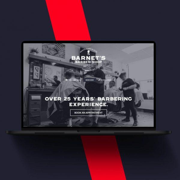 Barnet's Barbers website